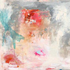 Eksperimenterende maleri, 60x60 cm, pris kr. 2.500,-