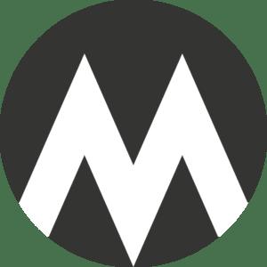 Logo: Mørk med hvidt M