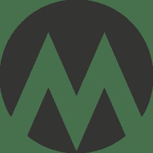 Logo: Mørk med gennemsigtigt M