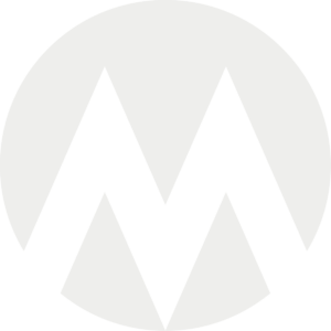 Logo: Lys med gennemsigtigt M